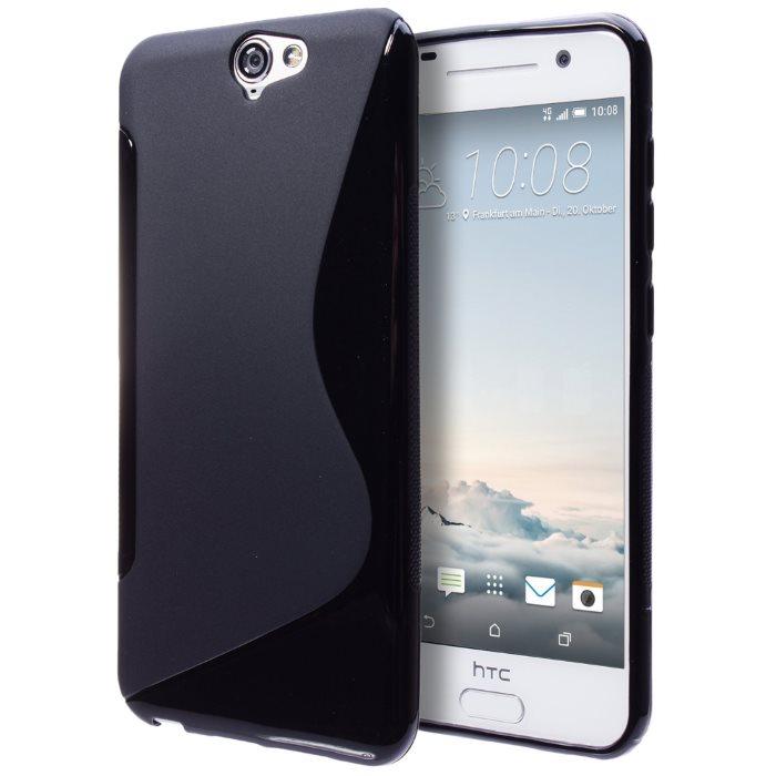 Puzdro silikonové S-TYPE pre HTC ONE A9, Black