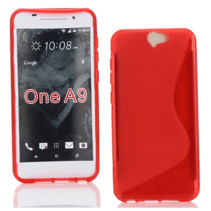Puzdro silikonové S-TYPE pre HTC ONE A9, Red