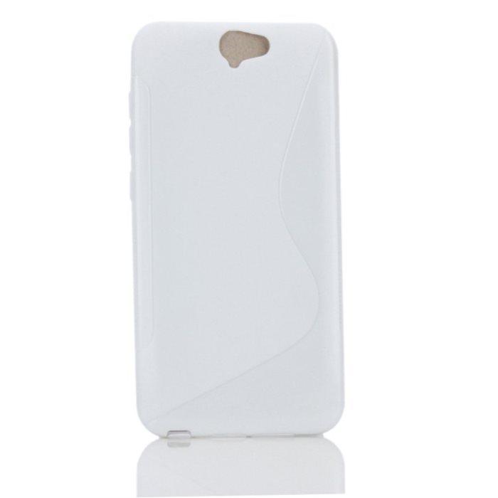 Puzdro silikonové S-TYPE pre HTC ONE A9, White