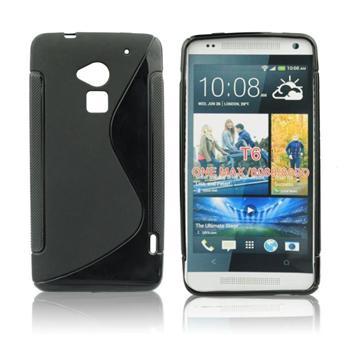 Puzdro silikonové S-TYPE pre HTC ONE Max - T6, Pink