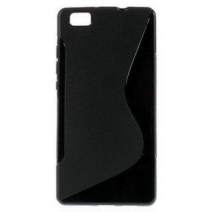 Puzdro silikonové S-TYPE pre Huawei Ascend P8, Black
