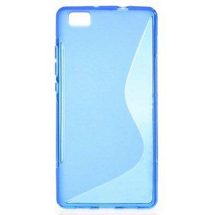 Puzdro silikonové S-TYPE pre Huawei Ascend P8, Blue