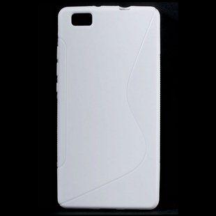Puzdro silikonové S-TYPE pre Huawei Ascend P8 Lite, White