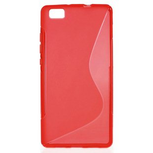 Puzdro silikonové S-TYPE pre Huawei Ascend P8, Red