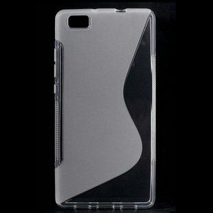 Puzdro silikonové S-TYPE pre Huawei Ascend P8, Transparent