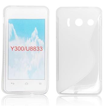 Puzdro silikonové S-TYPE pre Huawei Ascend Y300, White
