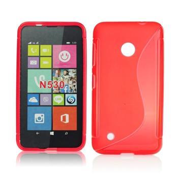 Puzdro silikonové S-TYPE pre Microsoft Lumia 535, White