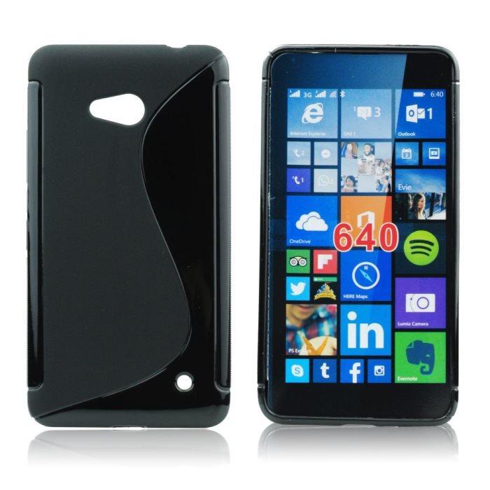Puzdro silikonové S-TYPE pre Microsoft Lumia 540, Black