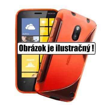 Puzdro silikonové S-TYPE pre Microsoft Lumia 540, Orange