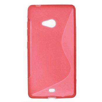Puzdro silikonové S-TYPE pre Microsoft Lumia 540, Red