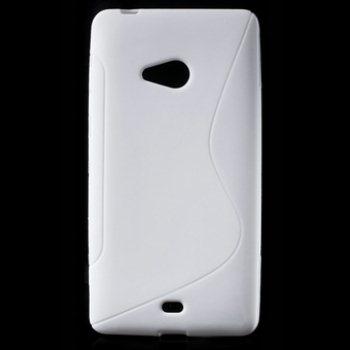 Puzdro silikonové S-TYPE pre Microsoft Lumia 540, White