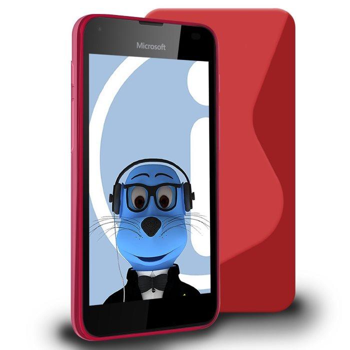 Puzdro silikonové S-TYPE pre Microsoft Lumia 550, Red