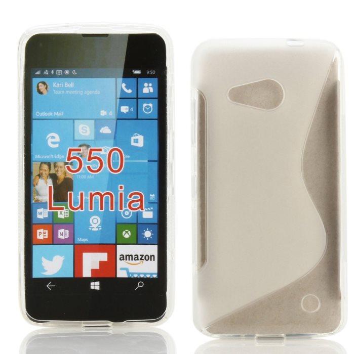 Puzdro silikonové S-TYPE pre Microsoft Lumia 550, Transparent