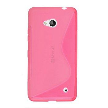 Puzdro silikonové S-TYPE pre Microsoft Lumia 640, Microsoft Lumia 640 LTE, Pink