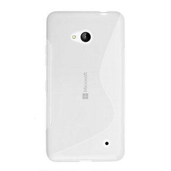Puzdro silikonové S-TYPE pre Microsoft Lumia 640, Microsoft Lumia 640 LTE, Transparent