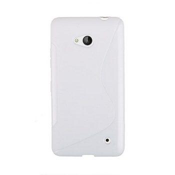 Puzdro silikonové S-TYPE pre Microsoft Lumia 640, Microsoft Lumia 640 LTE, White