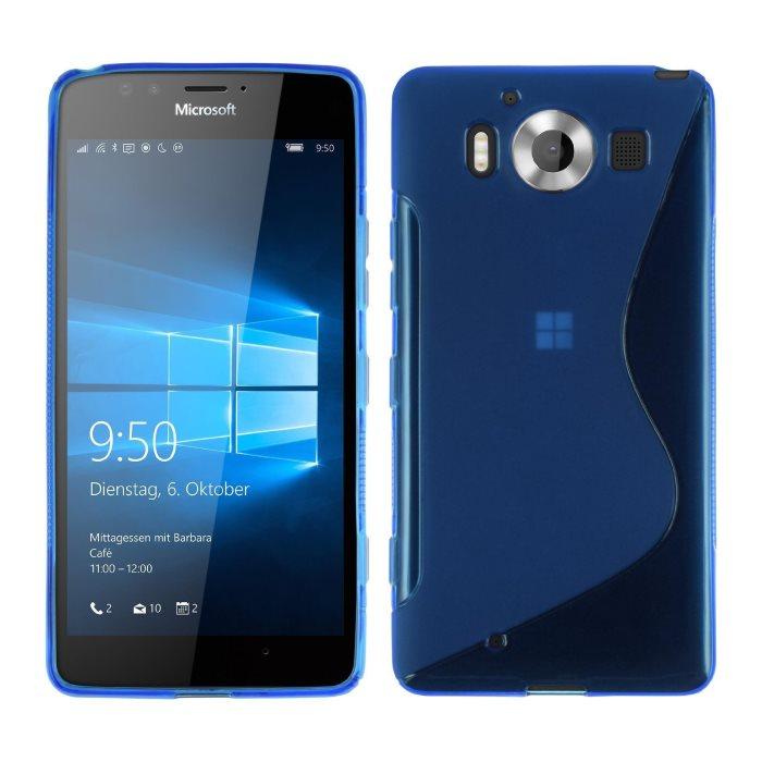 Puzdro silikonové S-TYPE pre Microsoft Lumia 950, Blue