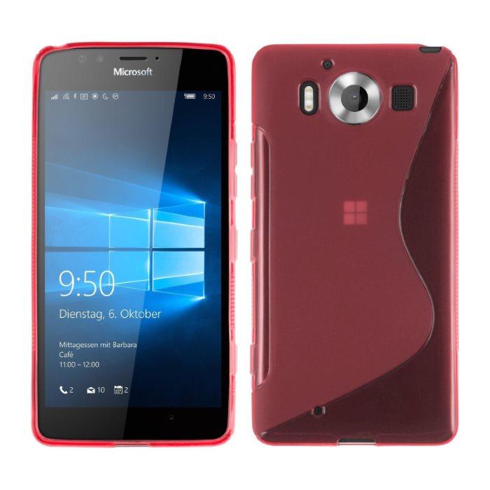 Puzdro silikonové S-TYPE pre Microsoft Lumia 950, Red