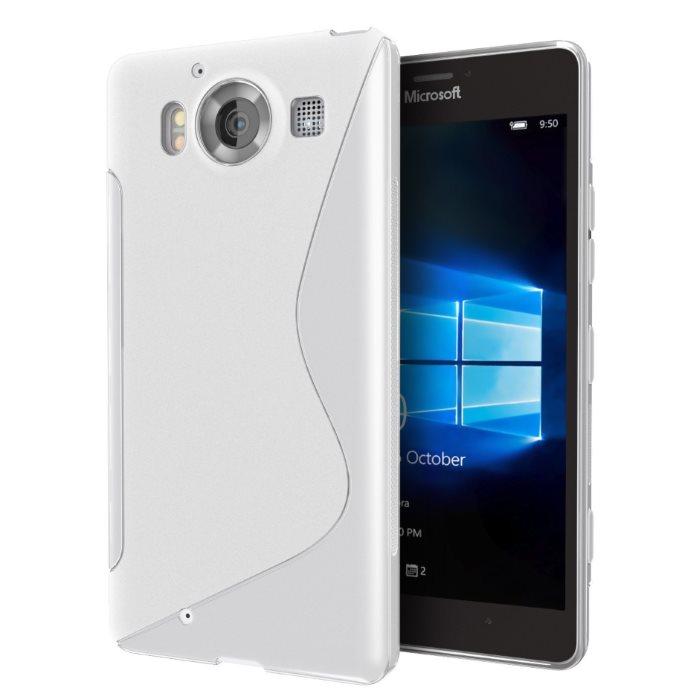 Puzdro silikonové S-TYPE pre Microsoft Lumia 950, White