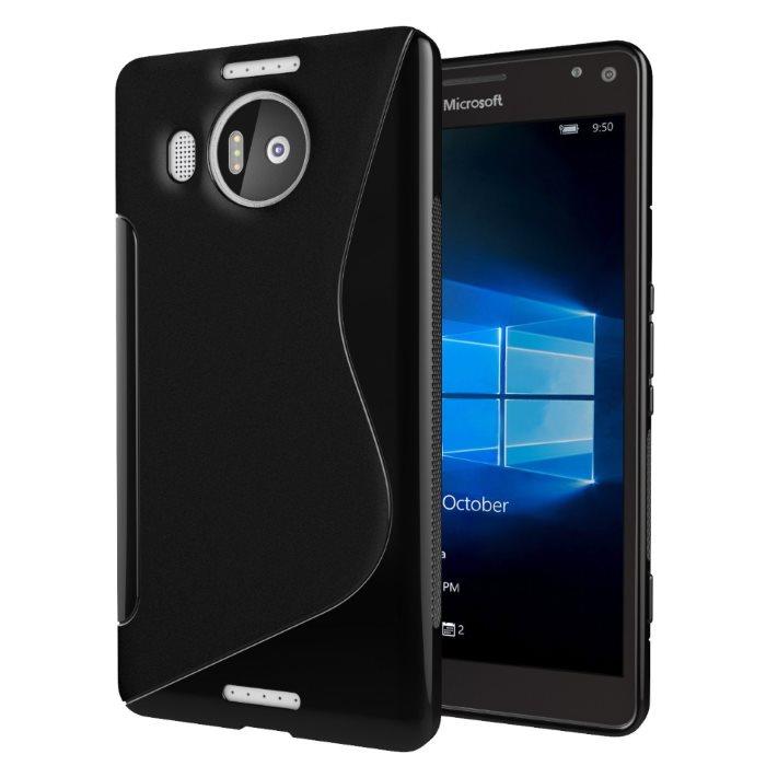 Puzdro silikonové S-TYPE pre Microsoft Lumia 950 XL, Black