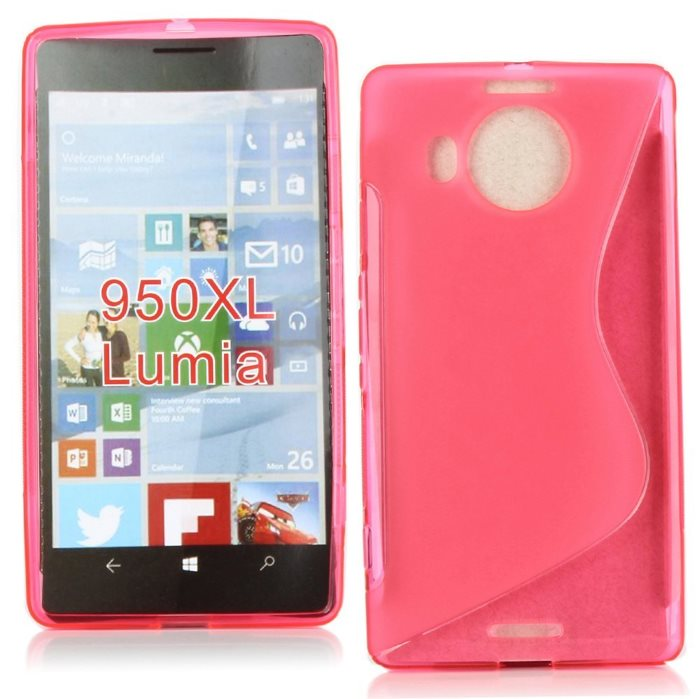 Puzdro silikonové S-TYPE pre Microsoft Lumia 950 XL, Pink