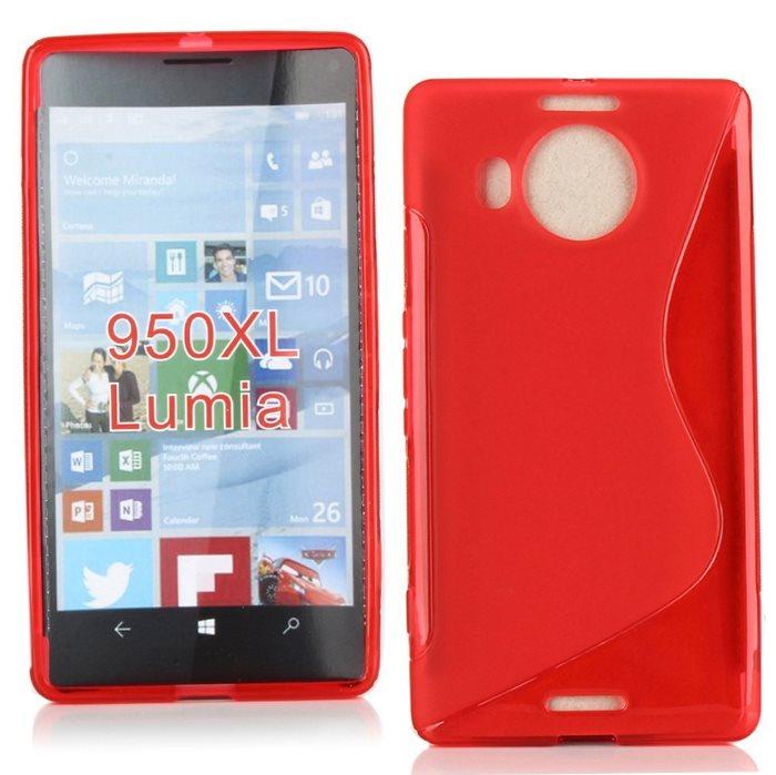 Puzdro silikonové S-TYPE pre Microsoft Lumia 950 XL, Red