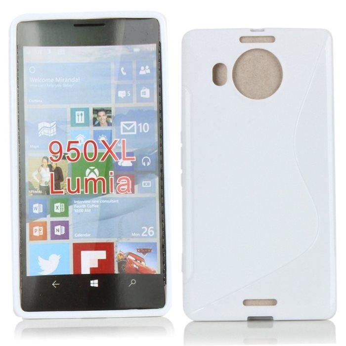 Puzdro silikonové S-TYPE pre Microsoft Lumia 950 XL, White