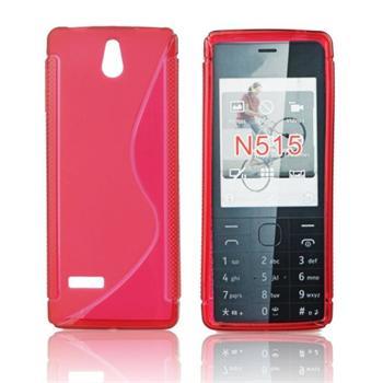 Puzdro silikonové S-TYPE pre Nokia 515, Purple