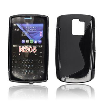 Puzdro silikonové S-TYPE pre Nokia Asha 205, Transparent