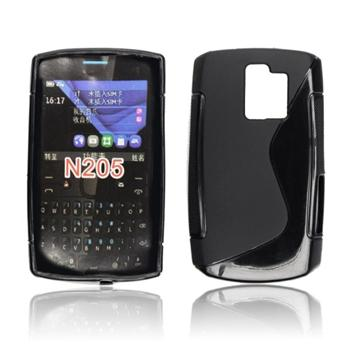 Puzdro silikonové S-TYPE pre Nokia Asha 208, Black