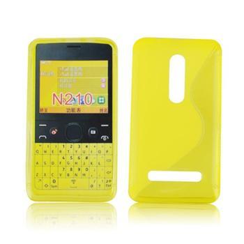 Puzdro silikonové S-TYPE pre Nokia Asha 210, Transparent