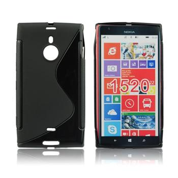 Puzdro silikonové S-TYPE pre Nokia Lumia 202, Black