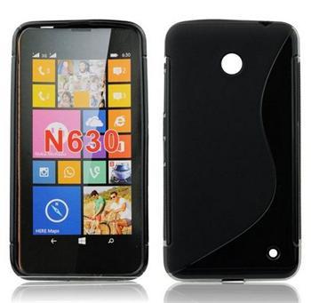Puzdro silikonové S-TYPE pre Nokia Lumia 730 a Nokia Lumia 735, White