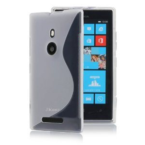 Puzdro silikonové S-TYPE pre Nokia Lumia 925, White