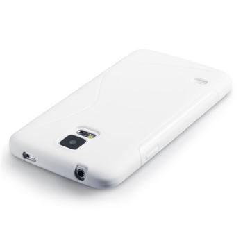 Puzdro silikonové S-TYPE pre Samsung Galaxy J5 - J500 a J5 Dual, White