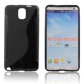 Puzdro silikonové S-TYPE pre Samsung Galaxy Note 3 - N9005, Transparent