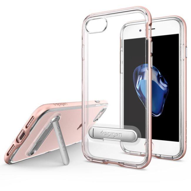 Puzdro Spigen Crystal Hybrid pre Apple iPhone 7 a iPhone 8, Rose Gold 042CS20461