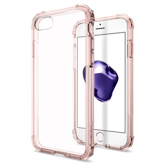 Puzdro Spigen Crystal Shell pre Apple iPhone 7 a iPhone 8, Rose Crystal 042CS20308
