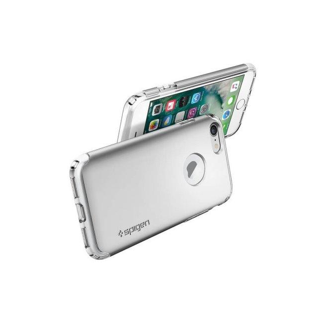 Puzdro Spigen Hybrid Armor pre iPhone 7/8 - Satin Silver 042CS20694