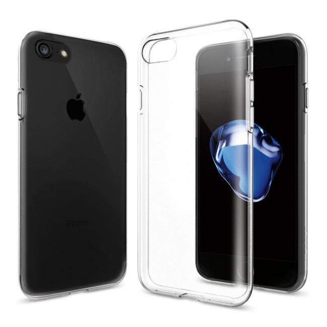 Puzdro Spigen Liquid Crystal pre Apple iPhone SE/8/7, Crystal Clear