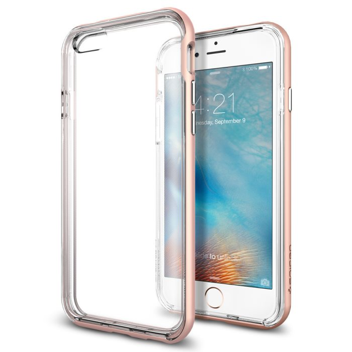 Puzdro Spigen Neo Hybrid EX pre Apple iPhone 6 a 6S, Rose Gold SGP11725