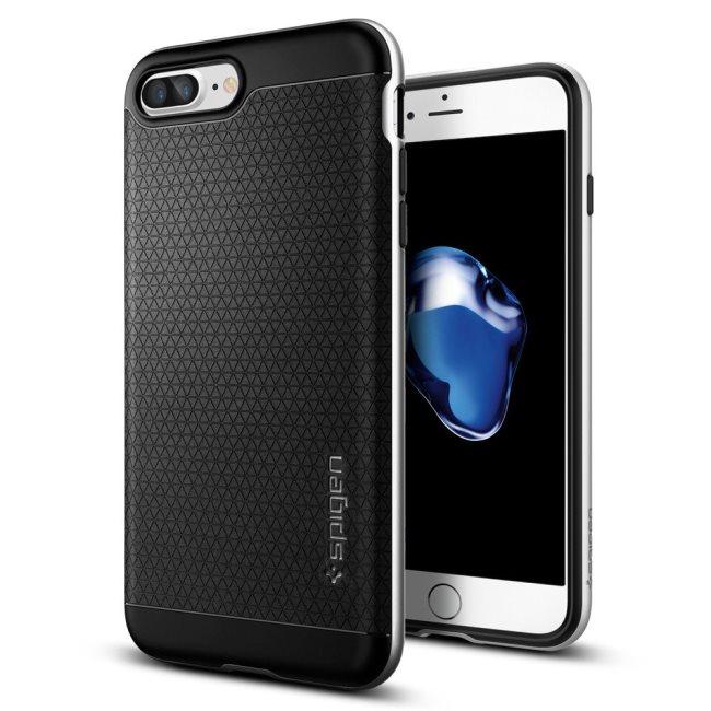 Puzdro Spigen Neo Hybrid pre Apple iPhone 7 Plus a iPhone 8 Plus, Satin Silver 043CS20537