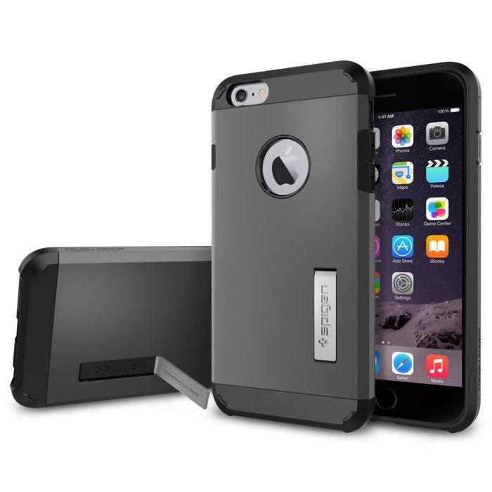 Puzdro Spigen Tough Armor pre Apple iPhone 6 Plus a 6S Plus, Gunmetal SGP11053