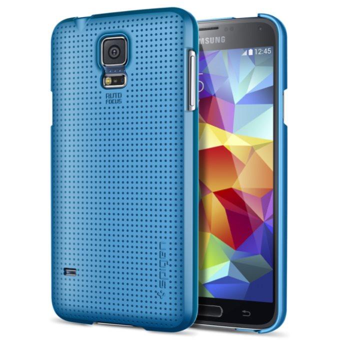 Puzdro Spigen Ultra Fit pre Samsung Galaxy S5 - G900 a S5 Neo - G903, Electric Blue