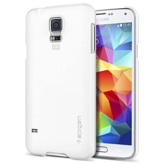 Puzdro Spigen Ultra Fit pre Samsung Galaxy S5 - G900 a S5 Neo - G903, Smooth White SGP10732