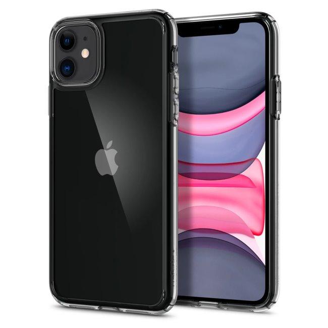 Puzdro Spigen Ultra Hybrid pre Apple iPhone 11, Clear 076CS27185