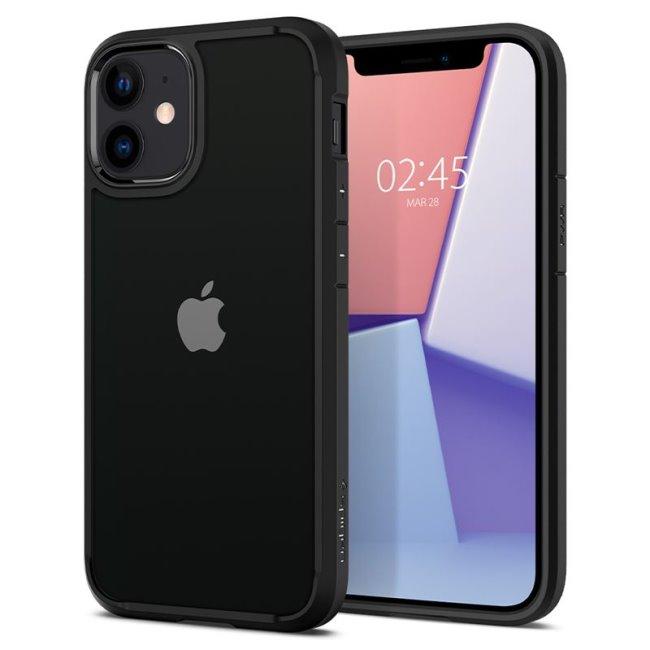 Puzdro Spigen Ultra Hybrid pre Apple iPhone 12 Mini, čierne ACS01746