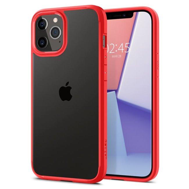 Puzdro Spigen Ultra Hybrid pre Apple iPhone 12/12 Pro, červené