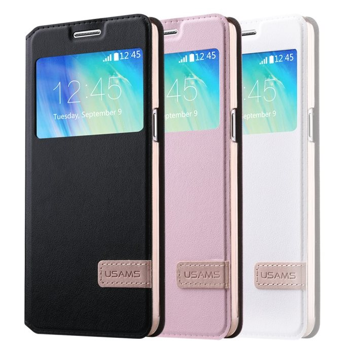 Puzdro USAMS Muge S-View pre Samsung Galaxy J5 - J500 a J5 Dual, White