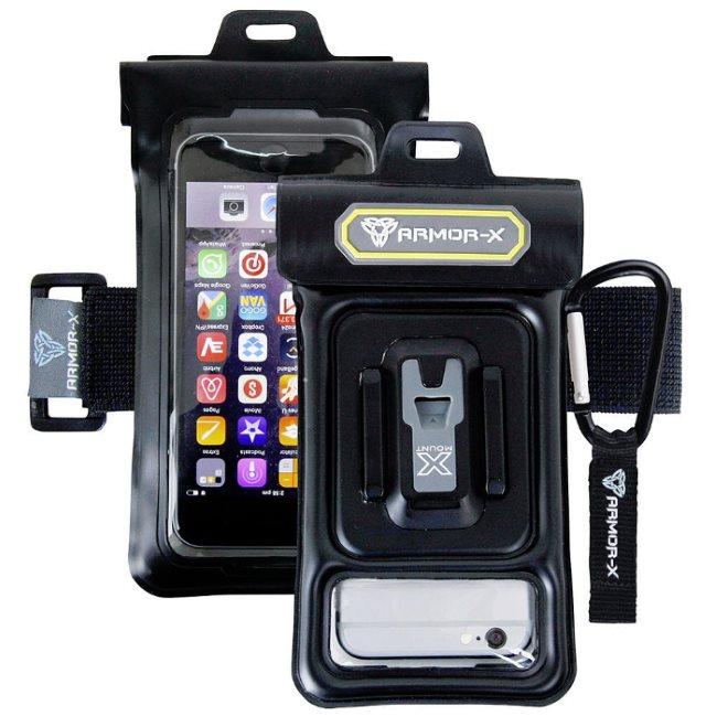 Puzdro vodotesné ARMOR-X pre HTC ONE - M9+, Black